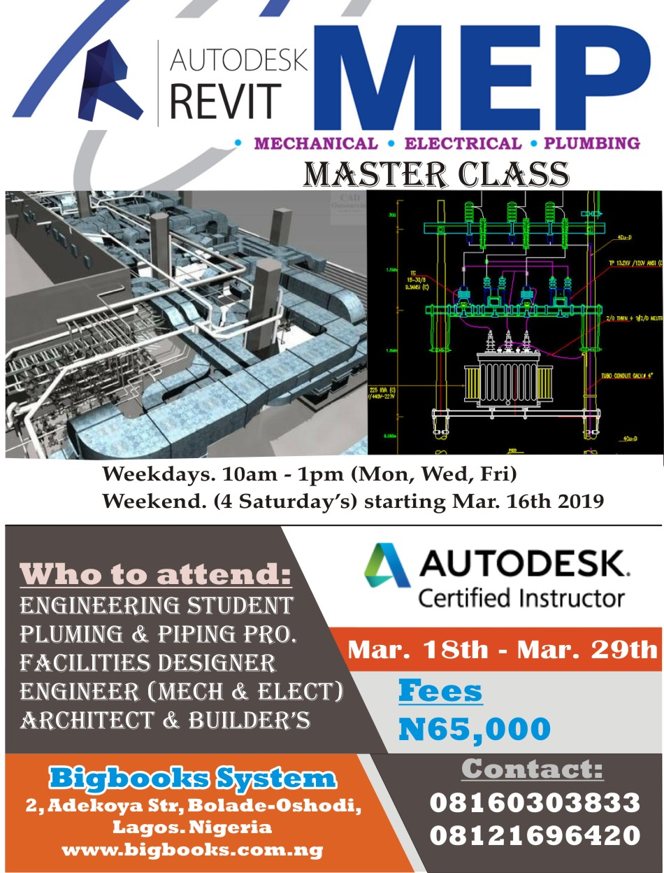 Revit MEP Master Class Post free event in Nigeria using tickethub.ng, buy and sell tickets to event
