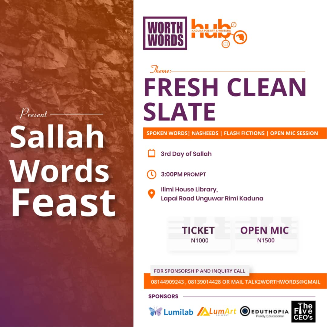 Open Mic Event- Sallah Word Feast Post free event in Nigeria using tickethub.ng, buy and sell tickets to event