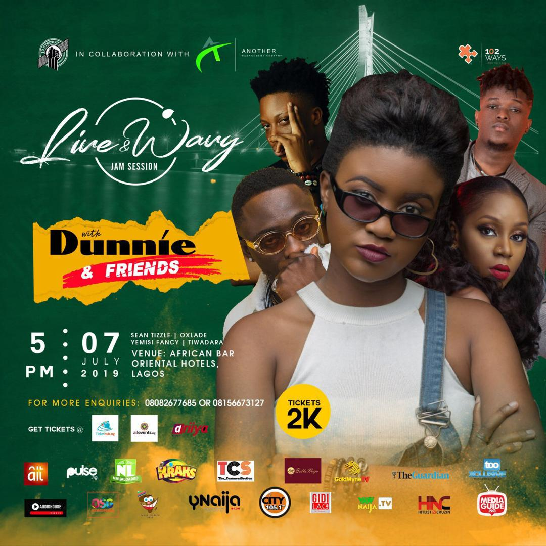 Live And Wavy With Dunnie And Friends Post free event in Nigeria using tickethub.ng, buy and sell tickets to event