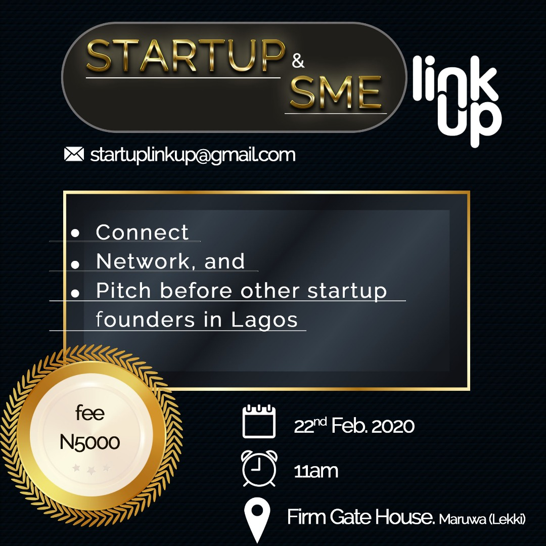 Startup& SME Link-up Post free event in Nigeria using tickethub.ng, buy and sell tickets to event