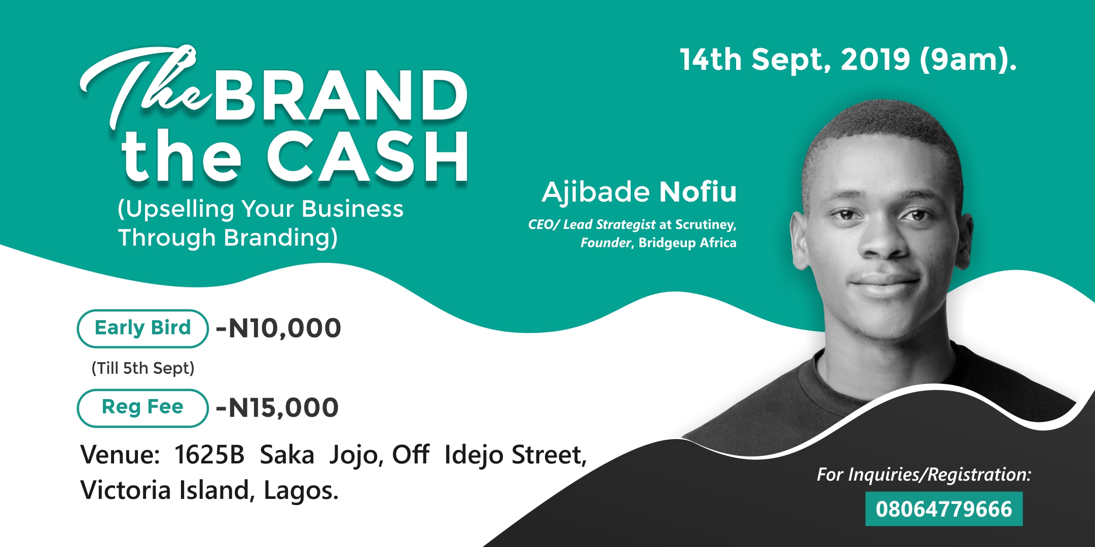 The Brand The Cash (Upselling Your Business Through Branding) Post free event in Nigeria using tickethub.ng, buy and sell tickets to event