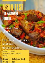 Asun Fest (the palmwine edition)