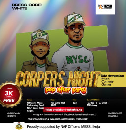 Corpers Night/POP After-party