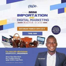MINI IMPORTATION AND DIGITAL MARKETING MASTER CLASS
