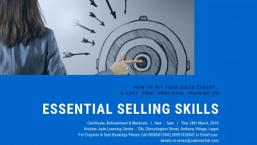 FREE ADVANCE ESSENTIAL SELLING SKILLS TRAINING COURSE