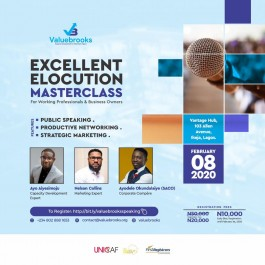 Excellent Elocution Masterclass: For professionals & Business owners.