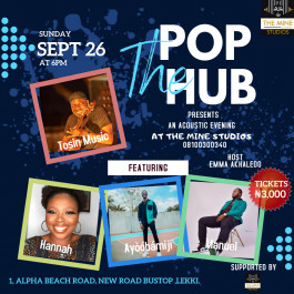 The Pop Hub presents An acoustic evening with Tosin Music and friends