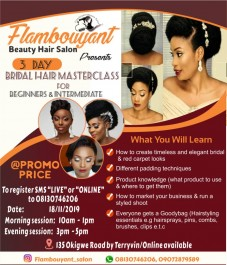 Bridal Hair Masterclass For Beginer&Intermediate