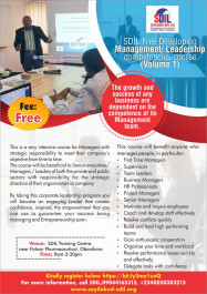 SDIL Free Developing Management/ Leadership competencies course...