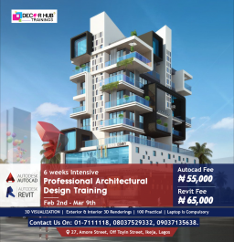 6 Weeks Intensive Professional Architectural Design Training...
