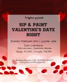 Sip & Paint; Valentine's Date Night.