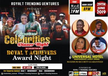 NIGERIAN CELEBRITIES DINNER NIGHT