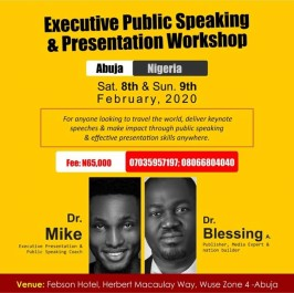 Executive Public Speaking Training in Abuja